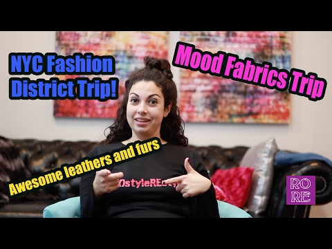 NYC Fashion Avenue Sewing Haul with Mood Designer Fabrics!