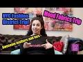 NYC Fashion Avenue Sewing Haul with Mood Designer Fabrics!