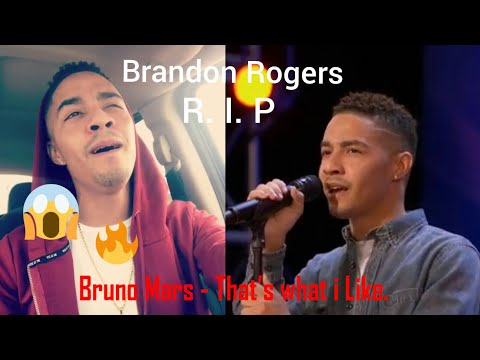 Thumbnail: Brandon Rogers Sings That's what i like by Bruno Mars X Ribbon in The Sky by Stevie Wonder