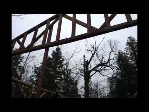 How To Put Up 22 Trusses By Yourself Solo Alone Part 1
