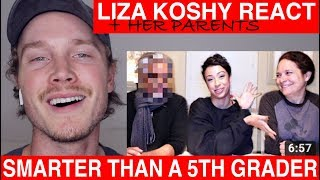 Liza Koshy Are My Parents Smarter Than a 5th Grader? reaction | Tyler Wibstad