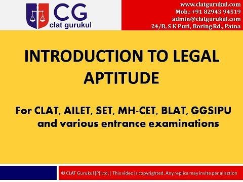 Introduction to Legal Aptitude || CLAT Gurukul