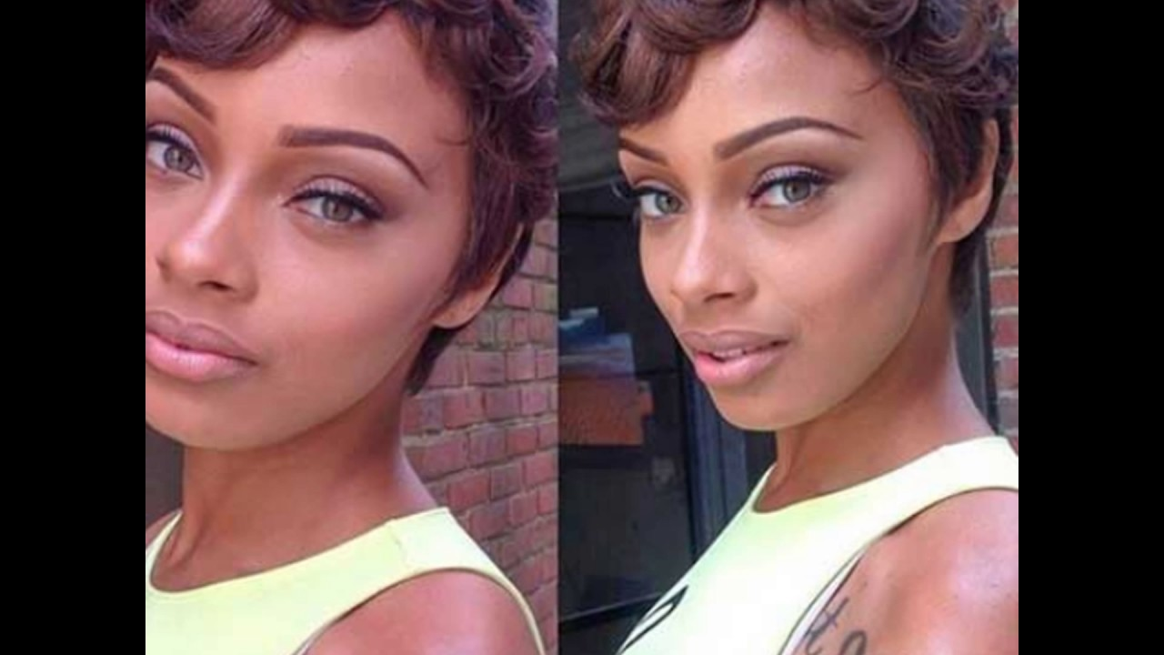 Curly Pixie Haircut For Black Women Youtube
