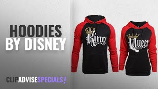 Top 10 Disney Hoodies [2018]: Stephaee Couple Hoodies King Queen Matching Couple Crown Pullover