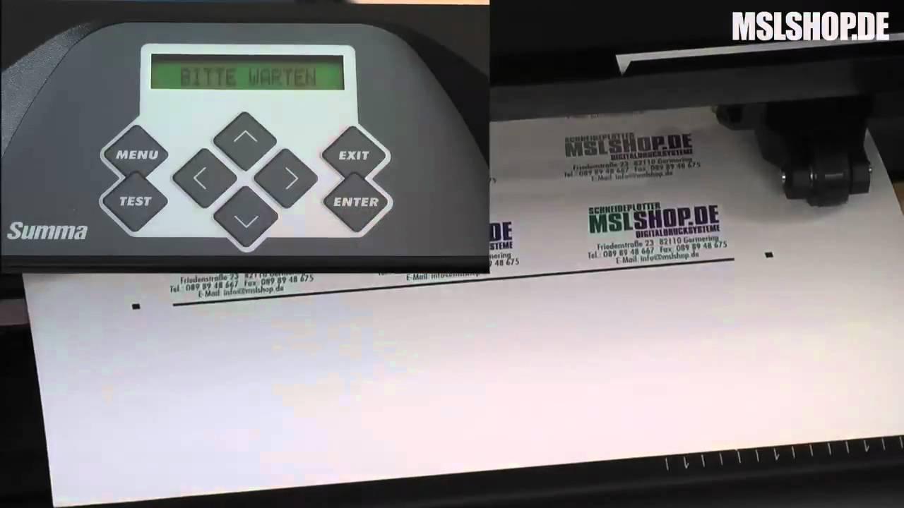 Schneideplotter Summa D-Serie, Konturen schneiden mit Passmarken und  Perforation
