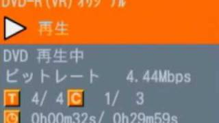 「ハートキャッチプリキュア!」OPをDVDにSP画質でダビングした時のビットレート。もちろん、映像・音なし。