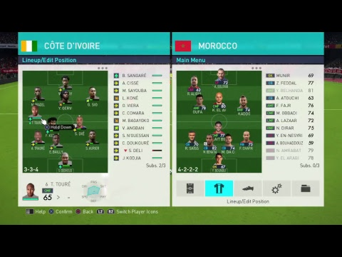 Côte d'Ivoire Vs Marocco WorldCup Qualification 3 round Streaming