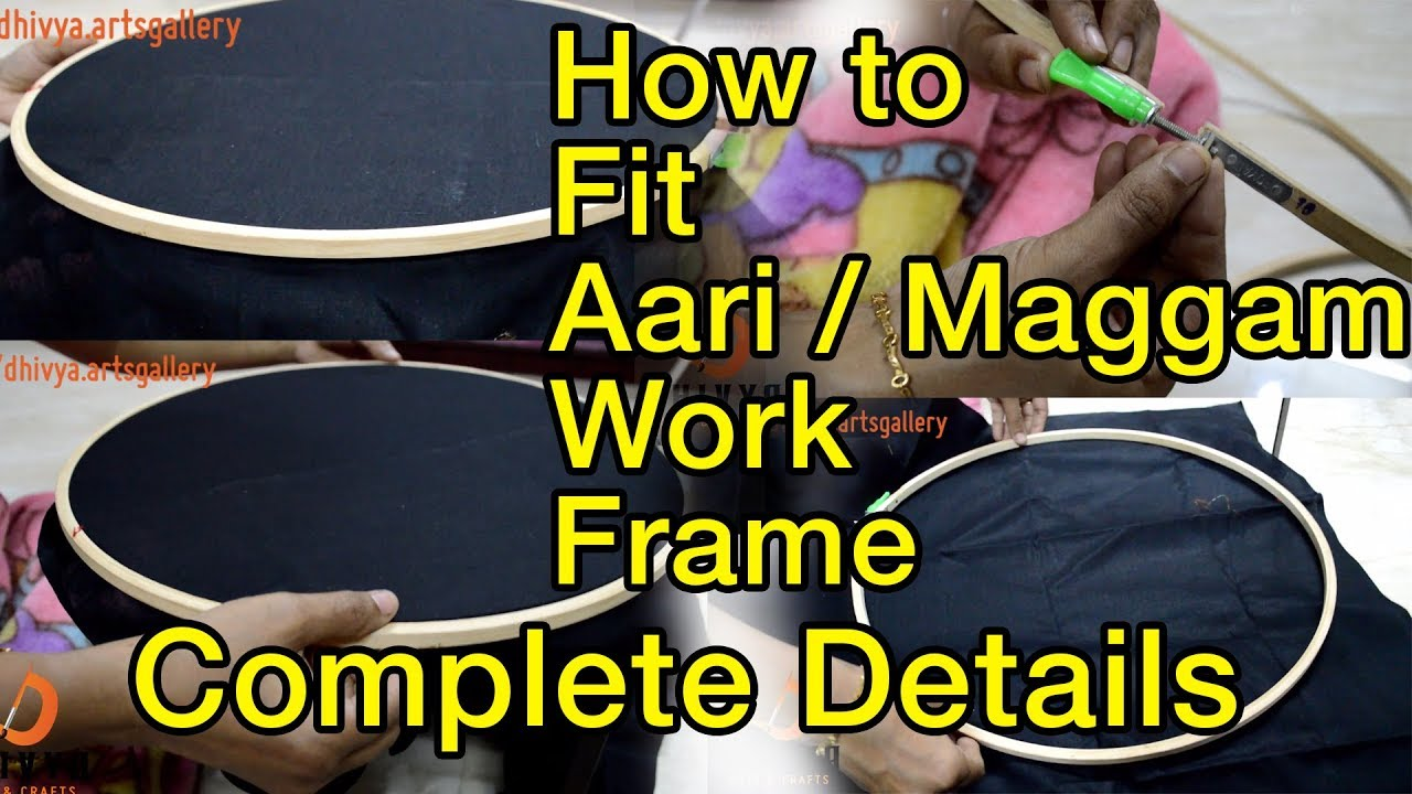 How To Fit Aari Stand Fix Maggam Embroidery Work Frame