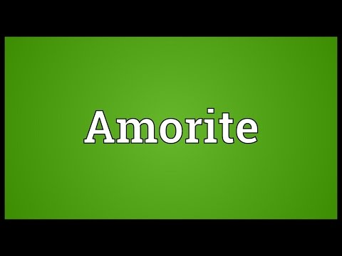 Amorite Meaning
