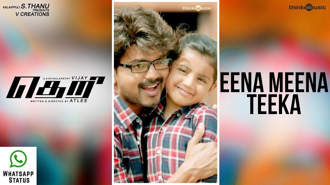 Theri Songs | Eena Meena Teeka Whatsapp Status | Vijay, Nainika | Atlee | G.V.Prakash Kumar
