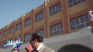 وضع حجر أساس مدرسة 'السيسى ' وسط زغاريد وهتافات تحيا مصر..صور وفيديو