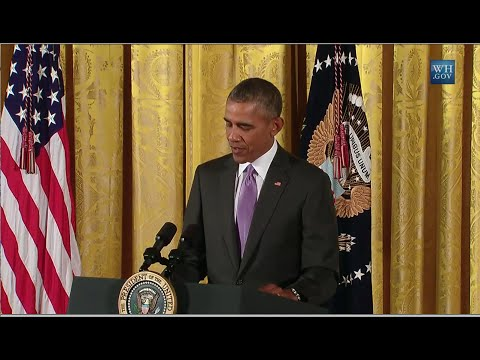Obama At National Medals of the Arts and Humanities Awards- Full Presentation