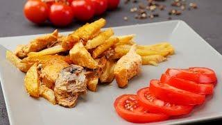Куриная грудка с грибами и картофелем - Рецепты от Со Вкусом