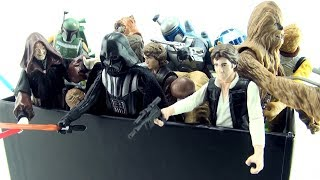 Box Full of Star Wars Figures - Star Wars Character Collection - Darth Vader Luke Skywalker Yoda