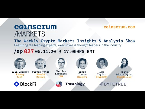 Finery Tech, Sheeld Market and CMS on EP027 Coinscrum Markets Crypto Podcast
