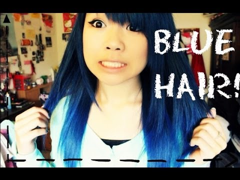 dying my hair blue youtube