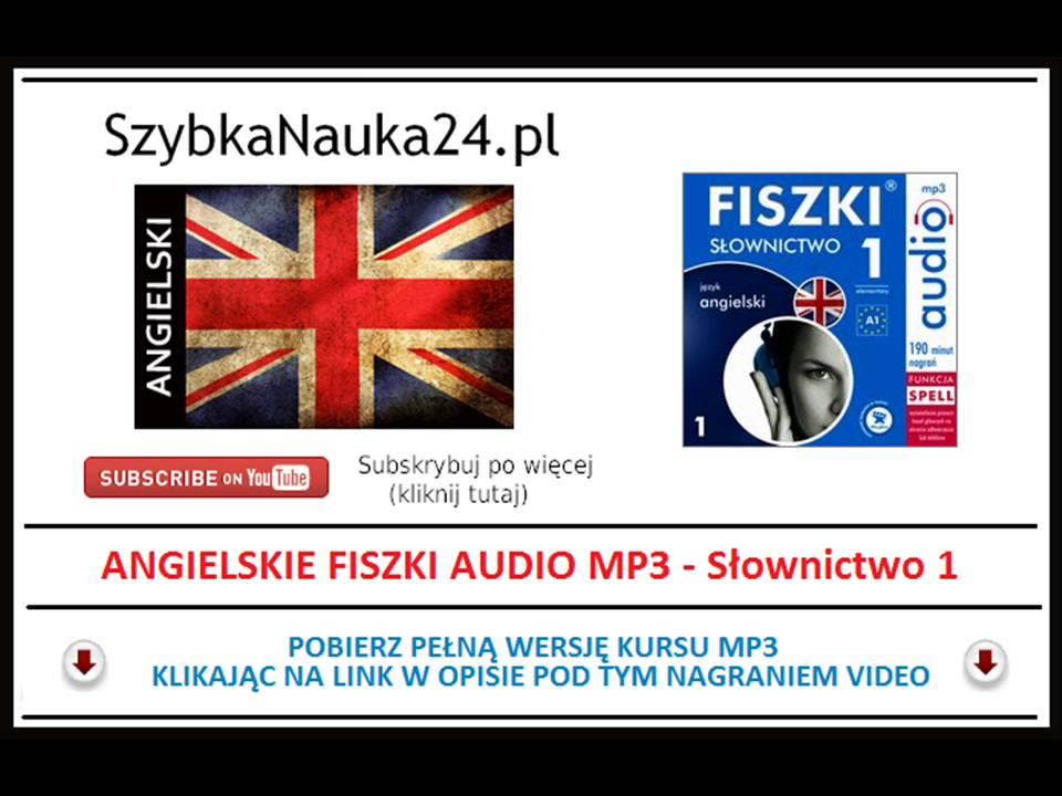 Nowość ANGIELSKI FISZKI MP3 - Nauka Słówek dla początkujących (Angielskie JS18