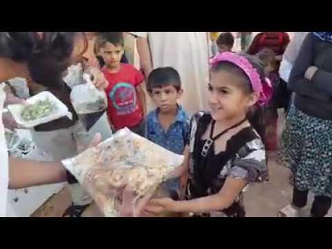FEEDING KIDS IN WAR TORN SYRIA
