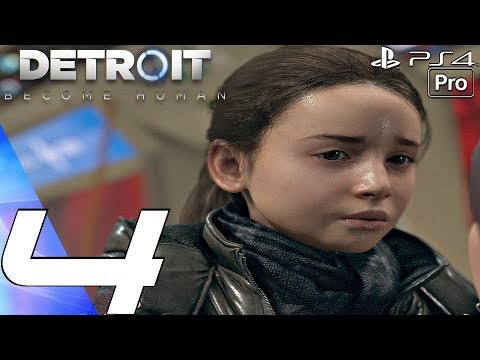 Detroit Become Human - Gameplay Walkthrough Part 4 - Waiting For Hank & On The Run (PS4 PRO)
