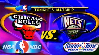 NBA Showtime: NBA on NBC PlayStation Gameplay - New Jersey Nets @ Chicago Bulls