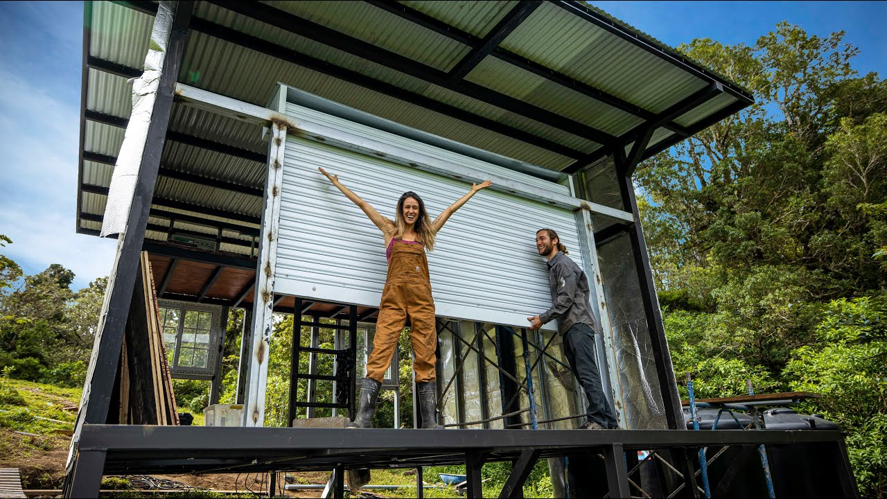 Our DIY Tiny House is COMING TO LIFE! // off grid living