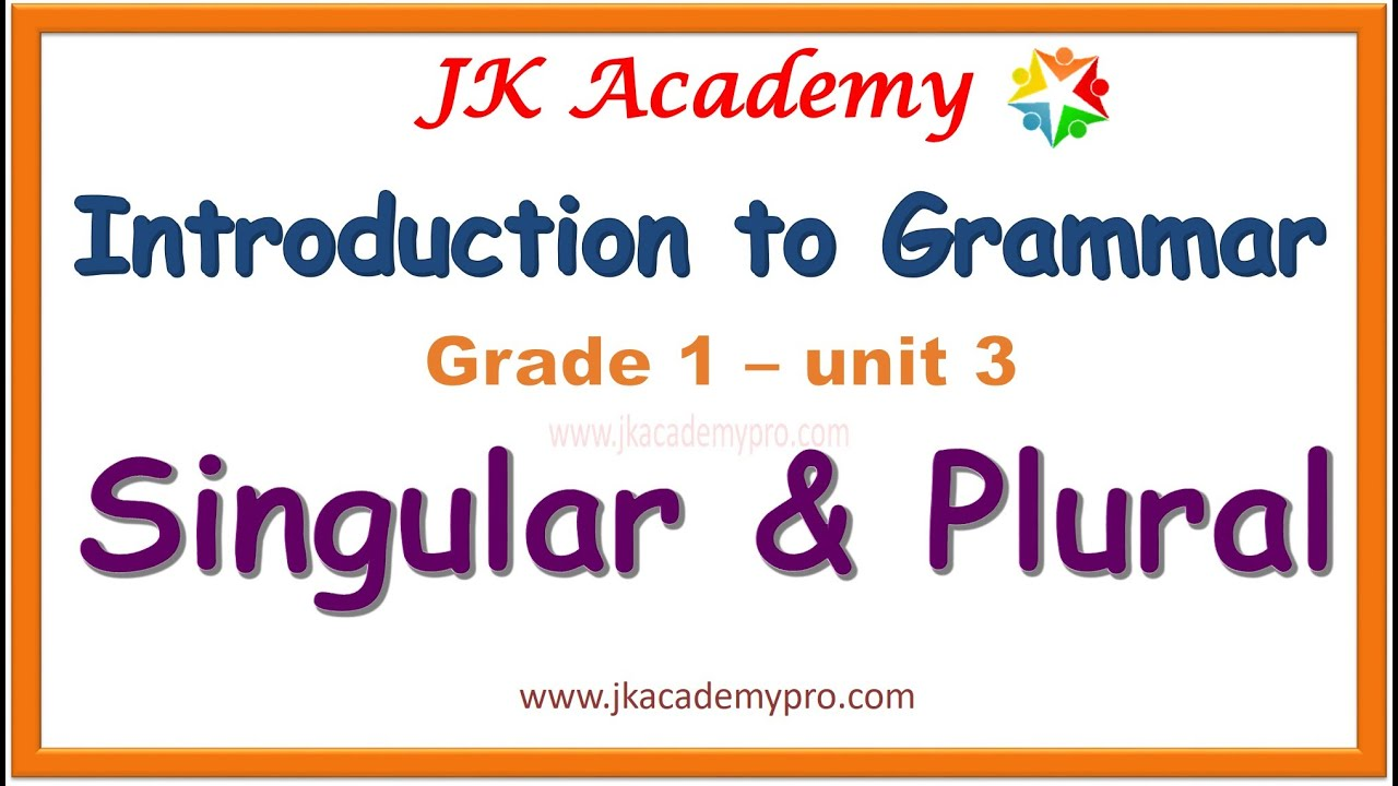 medium resolution of singular and plural nouns for kids   english grammar   grade 1 class 1 std  1 - YouTube