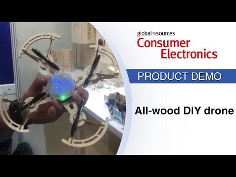 DIY drone has all-wood body