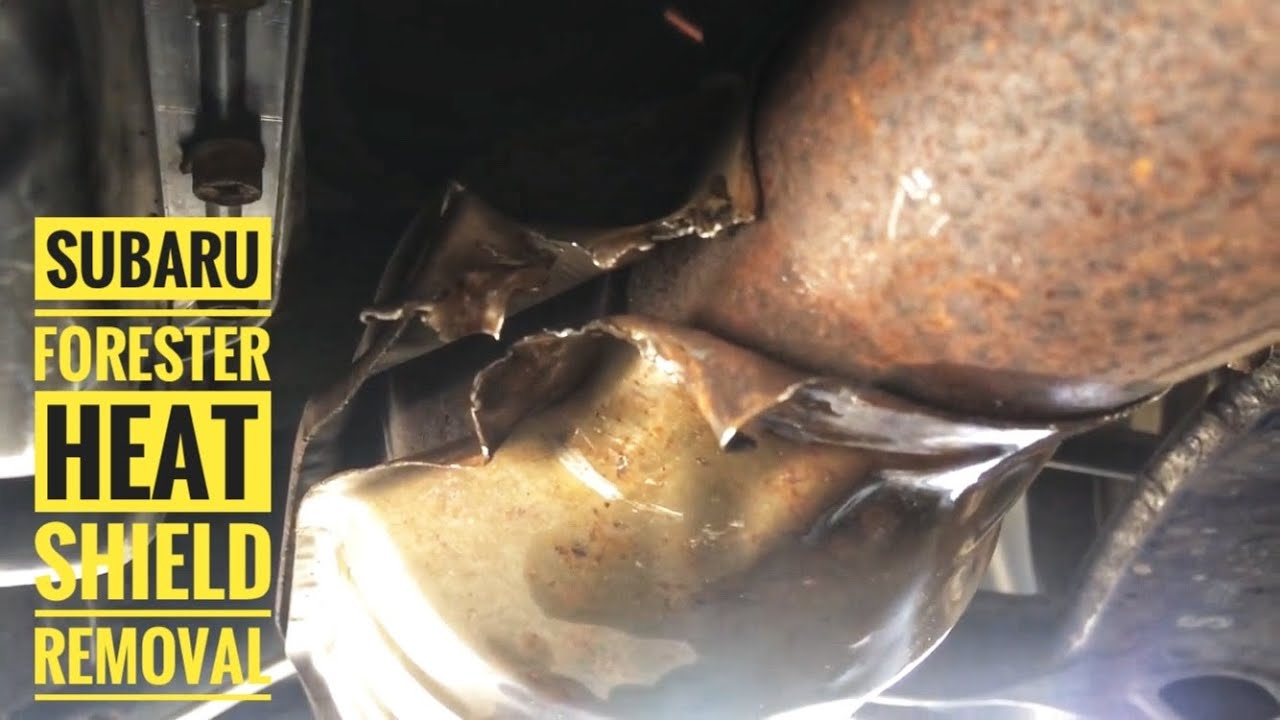2010 Subaru Forester heat shield rattle remedy