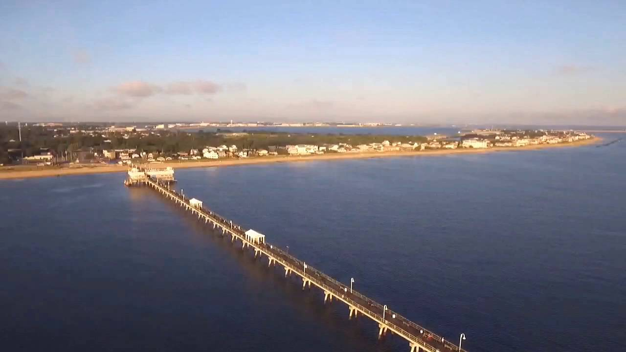 dji phantom ocean view fishing pier youtube