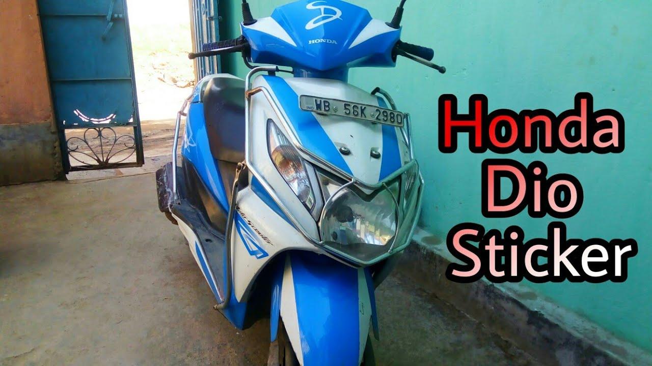 Honda dio sticker new type