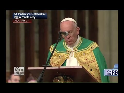 "WOW! Pope Francis says ""Jesus DEATH on CROSS was FAILURE"" at NYC Cathedral"