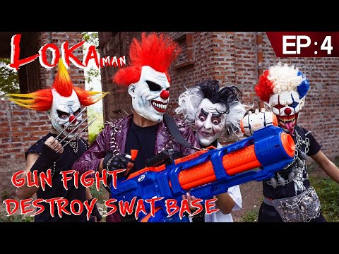 GUGU Nerf War Ep 6 : CID Dragon Nerf Guns Fight Boss Loka Mask Family Worin And Tick