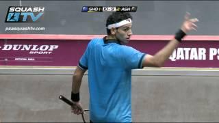 Squash : MegaRallies - El Shorbagy v Ashour Qatar Worlds 2012 - EP14