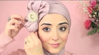 Hijab Tutorial Pretty Bow Turban - From My Ariana Grande Makeup Tutorial Thumbnail