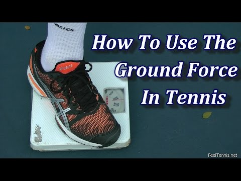How To Use The Ground Force In Tennis