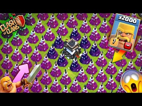 Thumbnail: 2000 Barbrians VS Full Wizard Towers ! | CLash Of Clans | CoC
