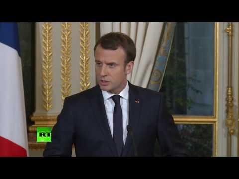 Conférence de presse commune d'Emmanuel Macron et du Premier ministre israélien Benjamin Netanyahou