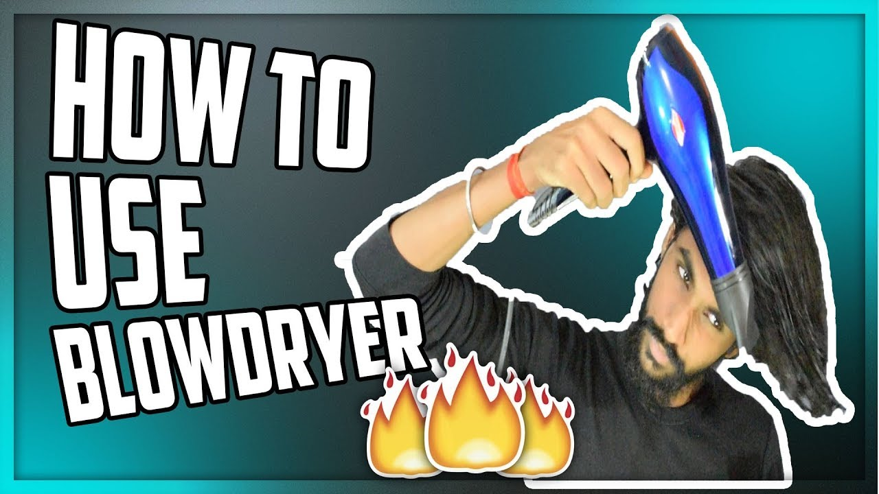 how to use hair dryer