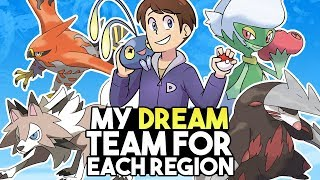 My Dream Pokemon Team Of Each Region