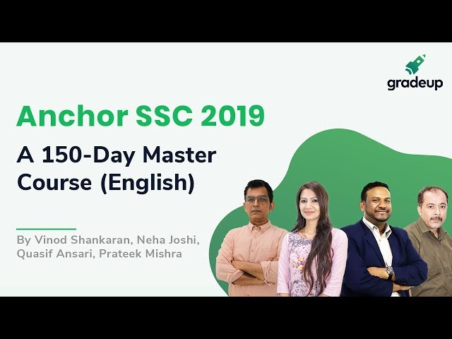 Anchor SSC 2019: A 150-Day Master Course for SSC Exams (English) || Course Introduction