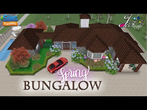 Sims FreePlay 🌷🍃| SPRING BUNGALOW |🌺🌿 By Joy.