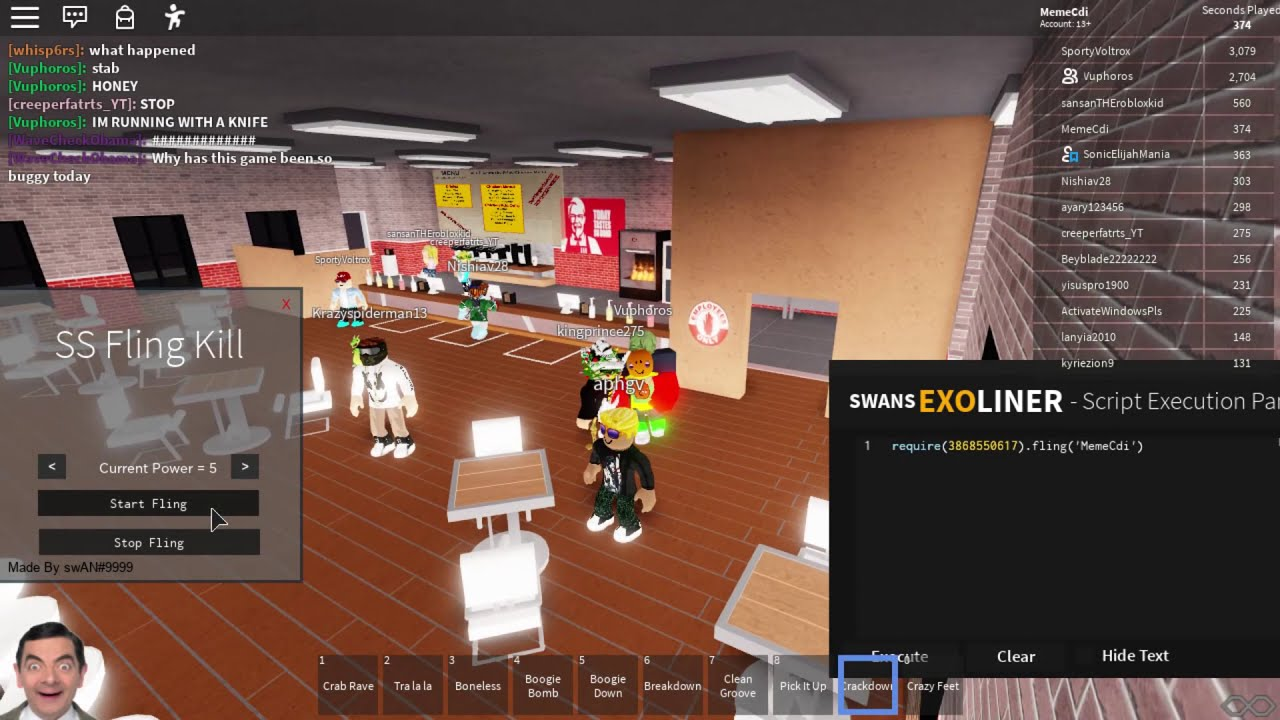 ROBLOX EXPLOITING TURNING MAPS INTO KFC ADMIN COMMAND TROLLING