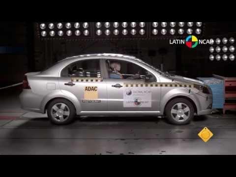 Crash Test Com Chevrolet Aveo Youtube