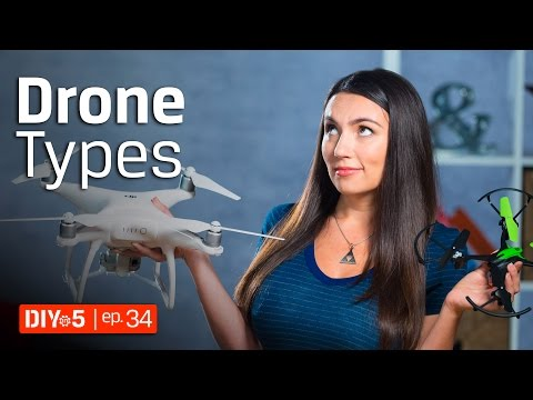 Different types of Quadcopters – Drone Type Comparison 🚁 DIY in 5 Ep 34