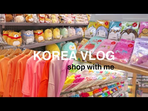 KOREA VLOG | Shopping, BTS, Kawaii Stationery Haul