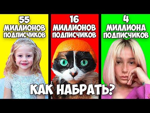 Как набрать подписчиков в ютубе? Оценка каналов Like Nastya, SlivkiShow, Настя Ивлеева