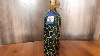 DIY: How to make colorful animal print on a bottle of whiskey TUTORIAL