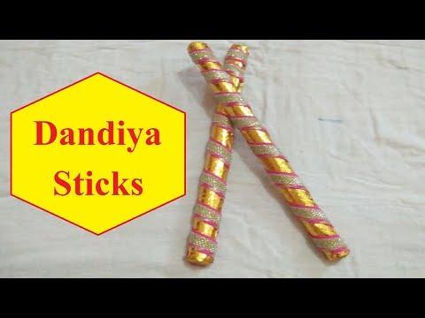 How to make Dandiya Sticks at Home for Navratri [2018]