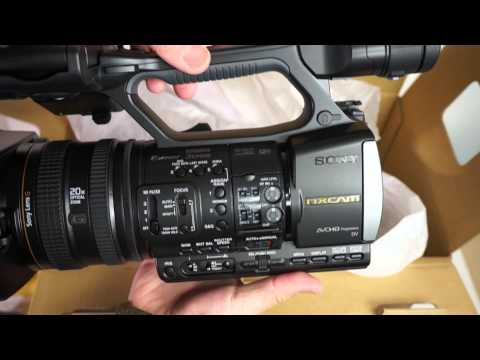 SONY NXCAM HXR-NX3 UNBOXING