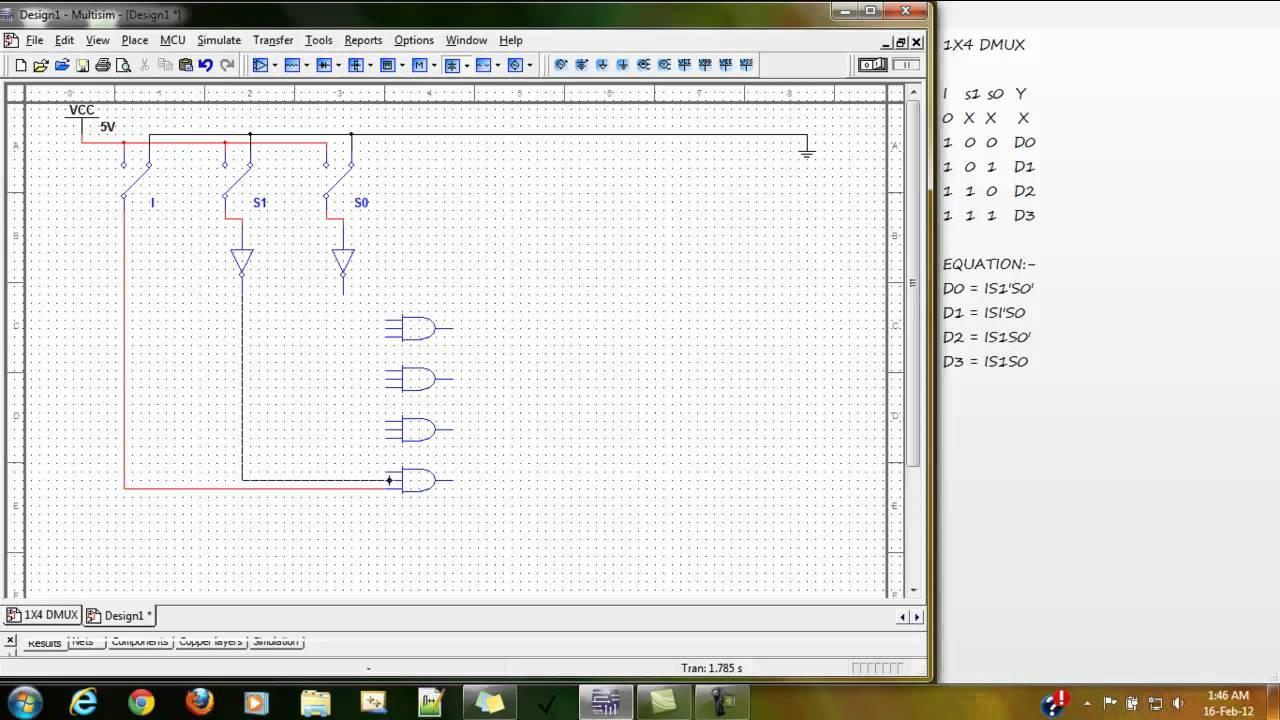 1x4 Dmuxmp4 Youtube 1 To 4 Demultiplexer Logic Diagram